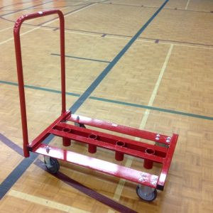 4 volley ball post storage cart